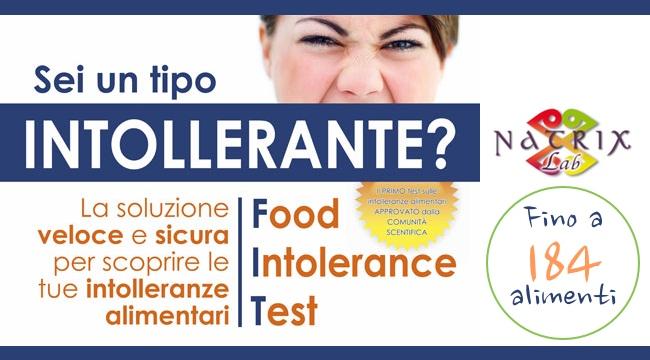 Intolleranze Alimentari Natrix Lab