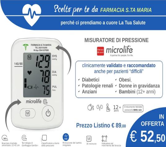 Misuratore di pressione Microlife